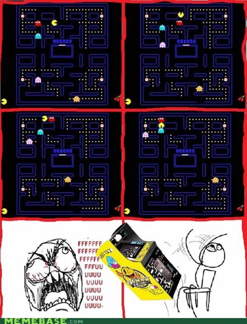 fu guy,pacman,Rage Comics,video games