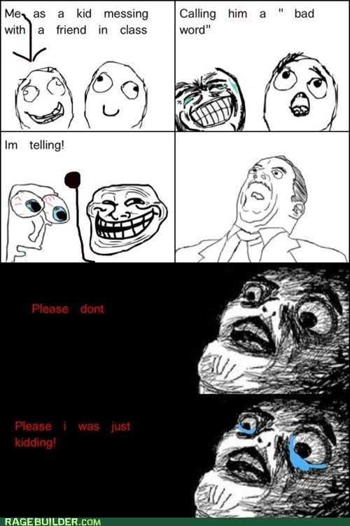 Rage Comics: I Don't Want Detention!