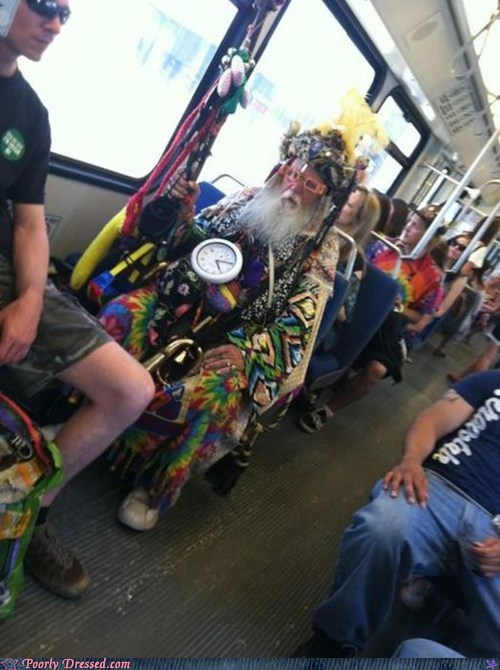 "The Rainbow Chroma-Mage Does Not Approve Of Your ""Public Transit"""