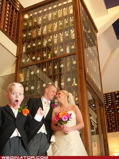 beer,children,funny wedding photos,photobomb,wine