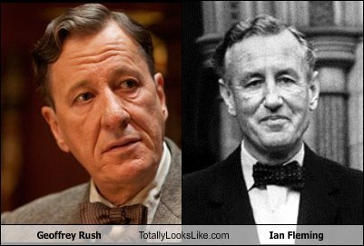 Geoffrey Rush Totally Looks Like Ian Fleming