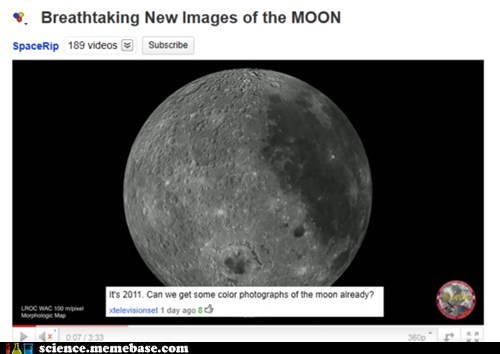 Dropping the Science: Do They Even Have Color on the Moon?
