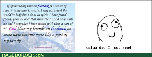 in internet facebook wastes you!