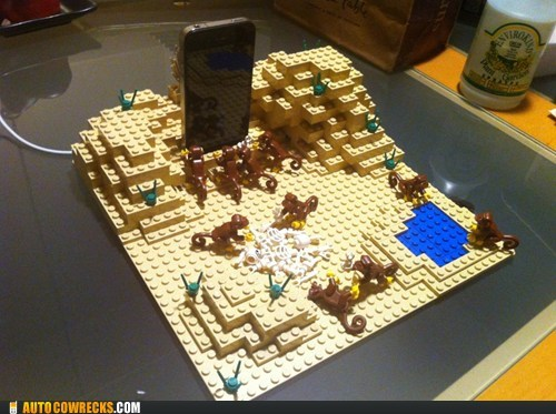 AutocoWrecks,g rated,iphone,legos,phone charger,toys