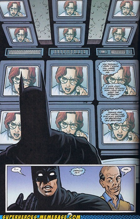 batman,camera,oracle,Straight off the,Straight off the Page