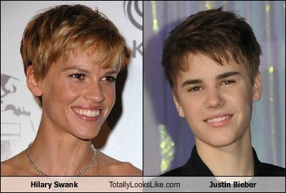 Hilary Swank Totally Looks Like Justin Bieber
