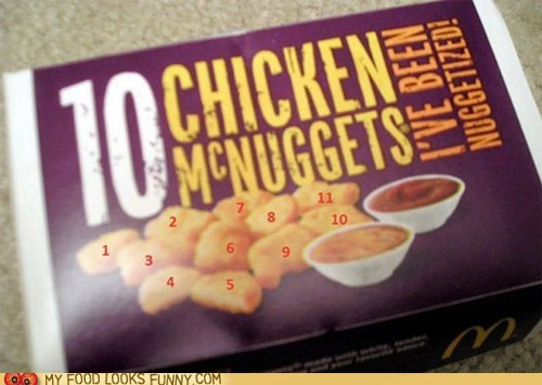 10,11,chicken nuggets,McDonald's,nuggets
