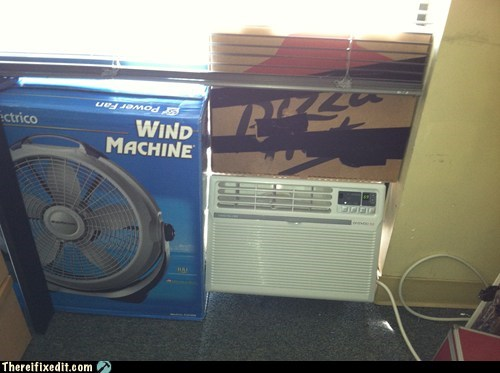 ac,air conditioning,pizza box,pizza hut,wind machine