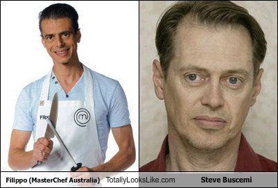 Filippo (Master Chef Australia) Totally Looks Like Steve Buscemi