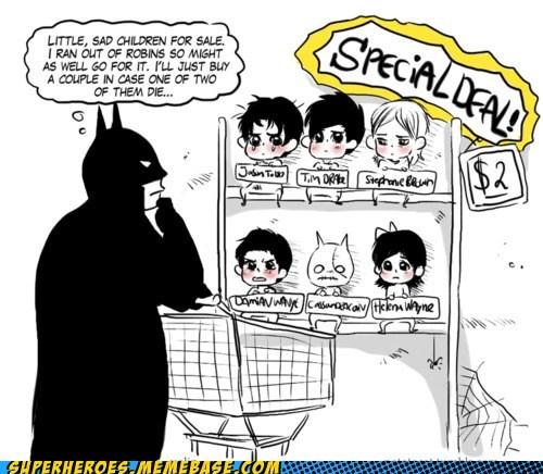 Awesome Art,batman,dead,deal,oops,robins,superheroes