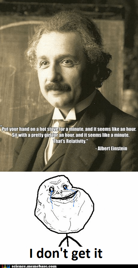 albert einstein,forever alone,Professors,relativity,stove,time