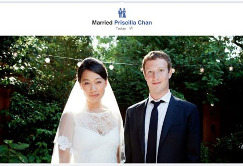 facebook,Mark Zuckerberg,marriage,news,priscilla chan,regular,rich people,wedding