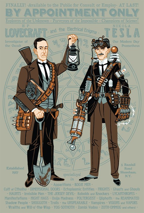 FanArt,hp lovecraft,Steampunk,tesla
