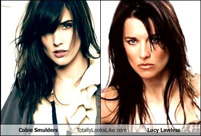 celeb,Cobie Smulders,funny,Lucy Lawless,TLL