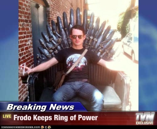Breaking News - Frodo Keeps Ring of Power