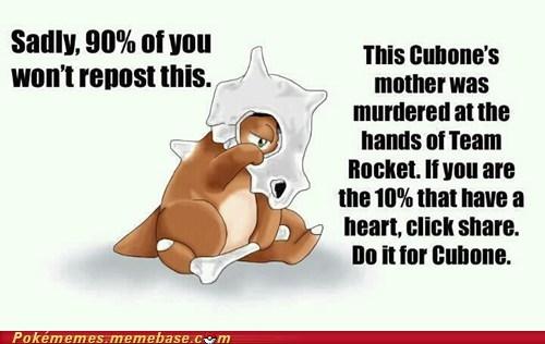 cubone,Pokémemes,Sad,share,Team Rocket,the internets
