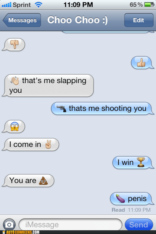 emoticons,genitalia,iPhones,out of control