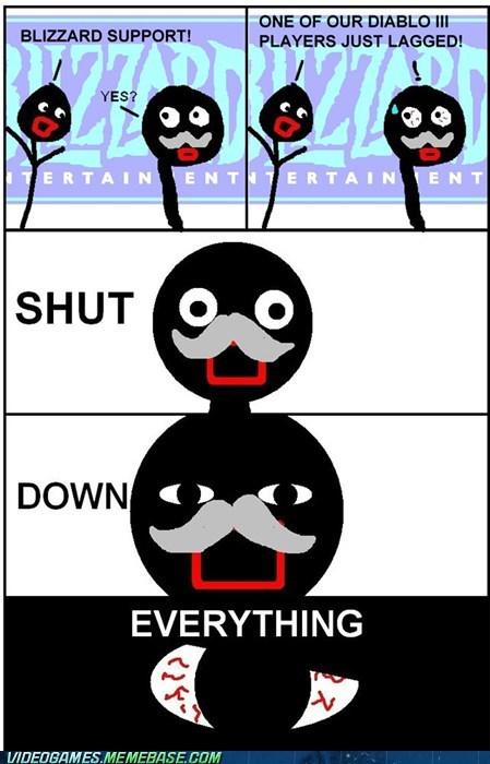 blizzard,comic,diablo,lag,latency,shut down