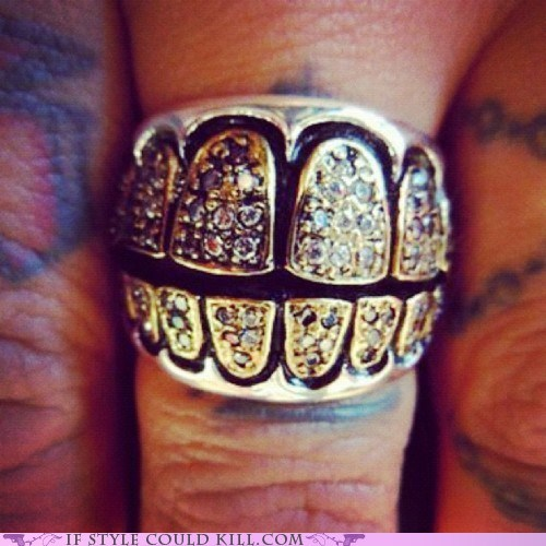cool accessories,grill,ring of the day,rings,teeth