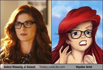 Debra Messing in Smash Totally Looks Like Hipster Ariel
