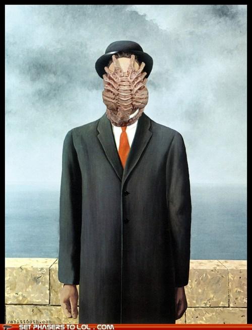 alien,Aliens,art,creepy,facehugger,hr giger,mashup,son of man