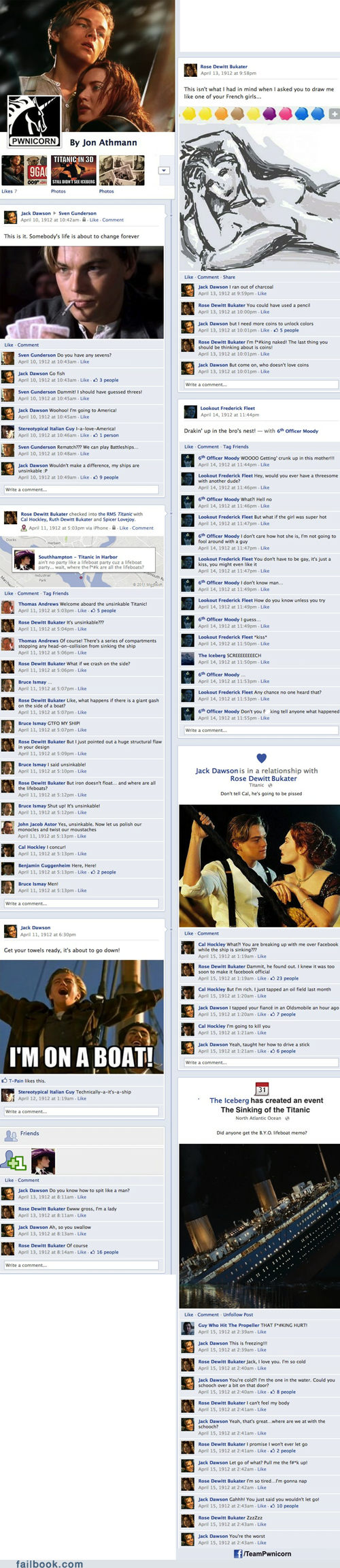 Failbook: If the Titanic Had Wi-Fi