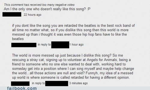 HOW DARE YOU THE BEATLES ARE THE MOST GLORIOUS OF GOD'S CREATION