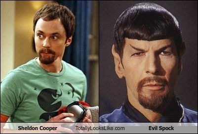 Sheldon Cooper (Jim Parsons) Totally Looks Like Evil Spock (Leonard Nimoy)