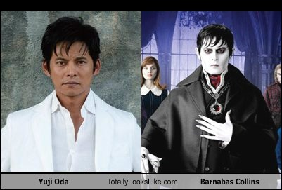 Yuji Oda Totally Looks Like Barnabas Collins (Johnny Depp)