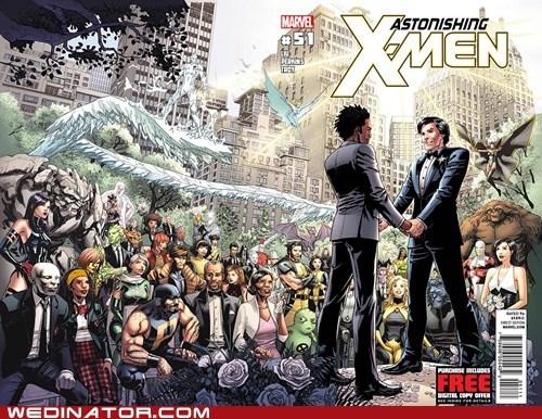 comics,funny wedding photos,gay marriage,geek,marvel,x men