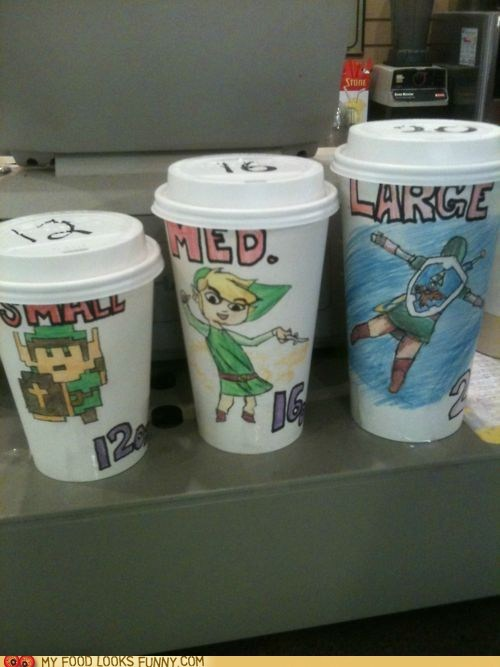 coffee,cups,drawings,link,sizes,zelda