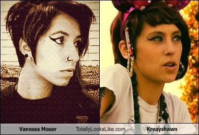 Vanessa Moser Totally Looks Like Kreayshawn