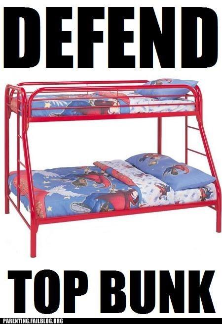 bedtime,bunk beds,defend top bunk