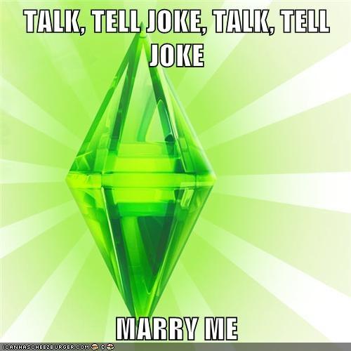 baby,joke,marriage,talk,The Sims
