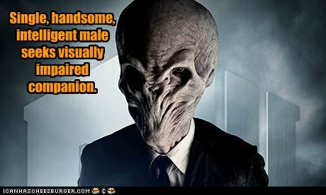 Ad,blind,companion,dating,doctor who,forget,handsome,silence,single