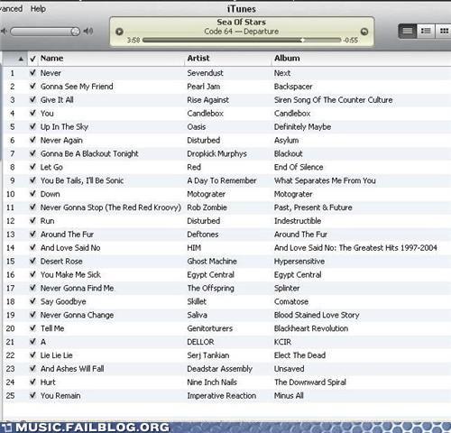 iTunes,playlist,rickroll