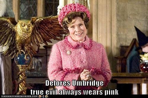 best of the week,Delores Umbridge,evil,Harry Potter,imelda staunton,pink,professor,scary,smile,true