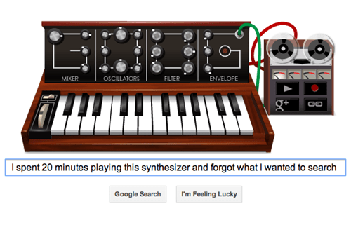 Today's Google Doodle Lets You Play and Record a Moog Synthesizer
