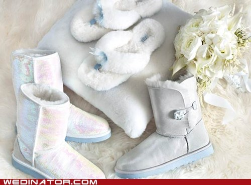 bridal couture,bridal fashion,funny wedding photos,shoes,ugg boots,uggs