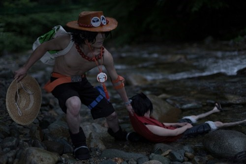 anime,cosplay,monkey d luffy,one piece,portgas d ace