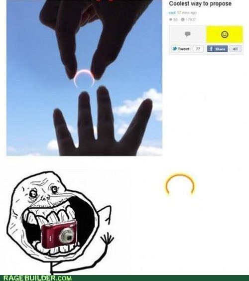 eclipse,forever alone,proposal,Rage Comics