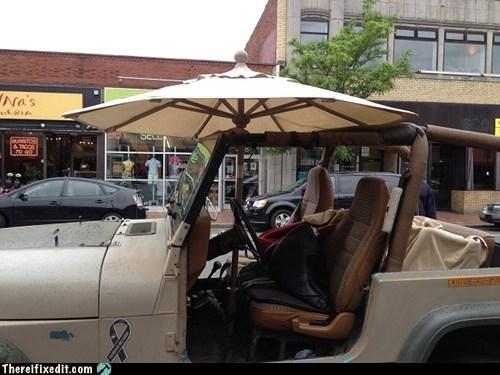 4x4,car,jeep,patio,truck,umbrella