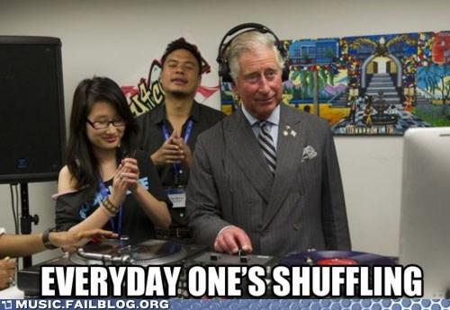 dj,england,everyday im shufflin,lmfao,prince charles