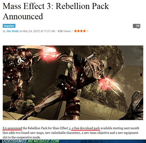 BioWare,EA,free,mass effect 3,Multiplayer,news,rebellion pack