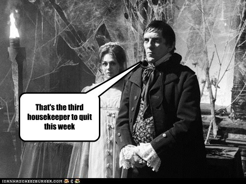 annoyed,barnabas collins,cobwebs,dark shadows,eye roll,housekeeper,jonathan frid,quitting,scared,this week
