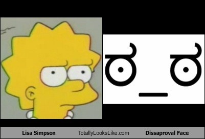 Lisa Simpson Totally Looks Like Disapproval Face