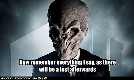 class,doctor who,failing,forgetting,remember,test,the silence