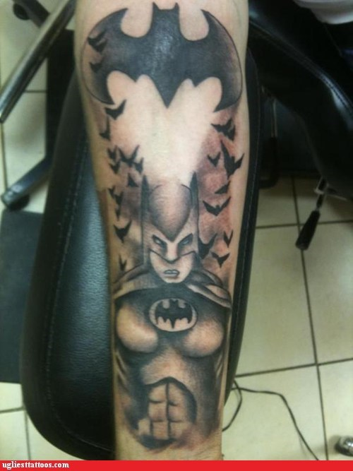 Ugliest Tattoos: Nice Breasts, Batman