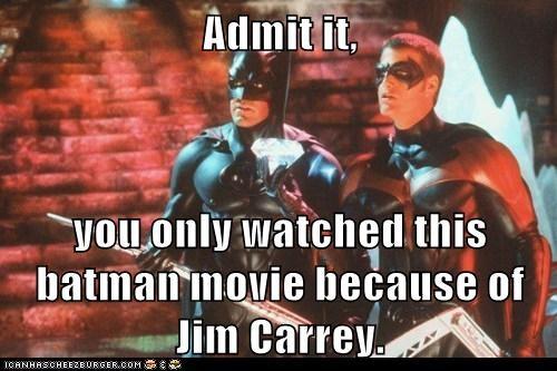 actor,batman,celeb,chris-odonnell,funny,george clooney,Movie
