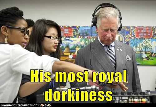 His most royal dorkiness